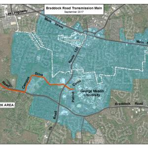 Location of New Water Main
